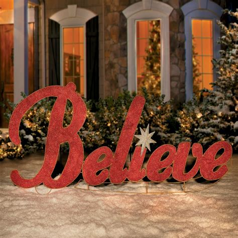 metal believe christmas yard decor happy holidays