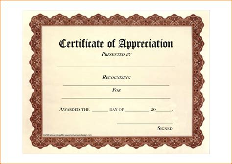 free printable letters of appreciation 8 free printable certificate of appreciationreference