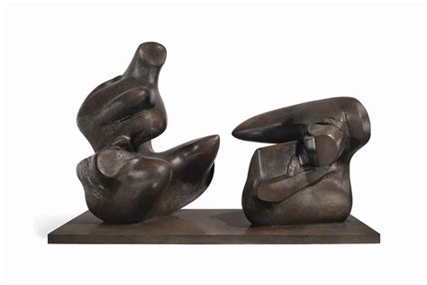 Reclining Figure by Henry 1898 1986 Two Reclining Figure