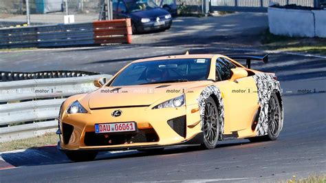 widebody lexus lfa mysterious lexus lfa widebody test mule spied lapping the