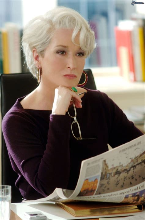 Meryl Streep As Miranda Priestly In Devil Wears Prada | the devil wears prada
