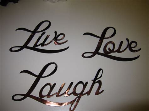 live laugh love wall decor live love laugh words metal wall art by heavensgatemetalwork
