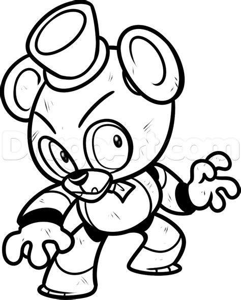 fnaf chibi coloring pages five nights at freddys coloring pages 01 fnaf world