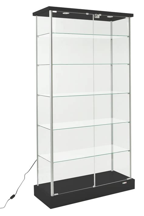 Display Cabinet Lighting Fixtures Glass Curio Cabinets Store Fixtures For Retail Locations
