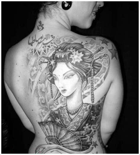 black and grey geisha tattoo 45 traditional geisha tattoo that inspire your artistic side