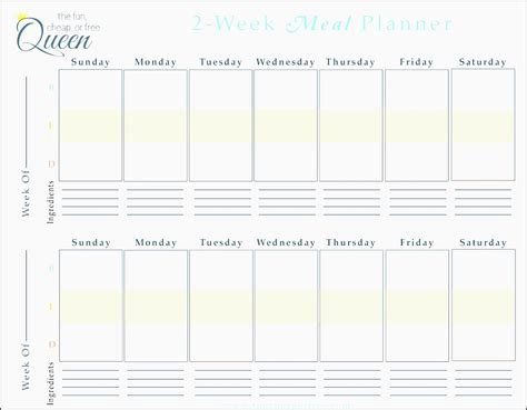 family meal plan template 9 free weekly meal planner layout in excel format