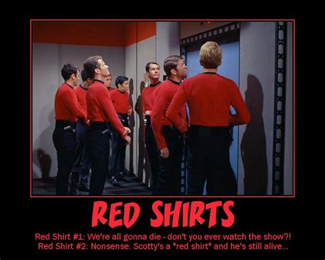 Red Shirt Star Trek Meme - star trek red shirt jokes