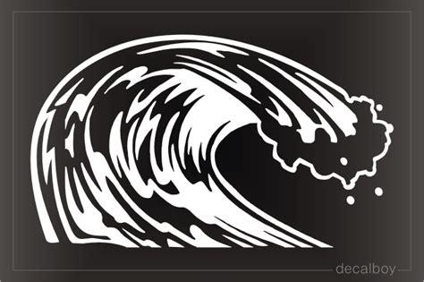 boat wave decals ocean decals stickers decalboy