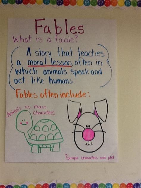 fables anchor chart anchor charts pinterest anchor