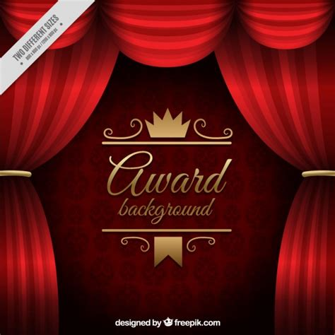 Red Curtain Valance Red Curtains Award Background Vector Free Download
