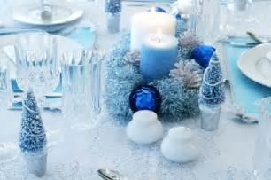 tables sets blue centerpieces candles
