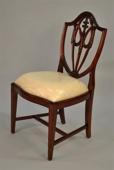 Mahogany Dining Chair Mahogany Shield Back Dining Chairs Fleur De Lis Shield Back Ebay