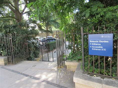 university  oxford botanic garden access guide