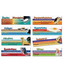 Figurative by Figurative Language Mini Bulletin Board Set Grade 5 8