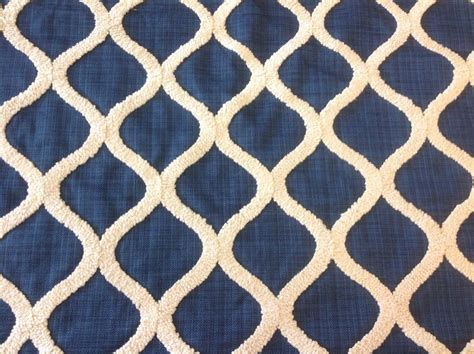 trellis fabric kravet navy embroidered lattice trellis upholstery fabric