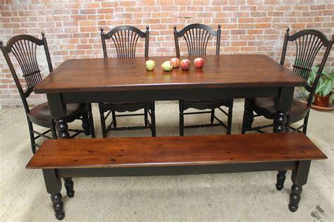 Black Farm Table by Rustic Farm Table Ecustomfinishes