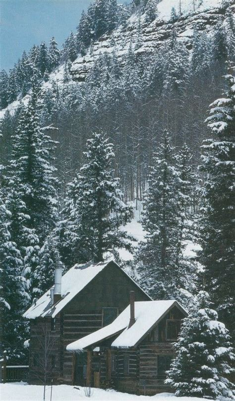Snowy Mountains Cottages by Snowy Winter Cabin Cabin Rustic Decor