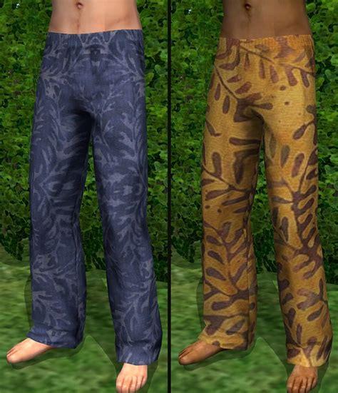 Batik Mesh Set mod the sims set of batik print pjs for guys