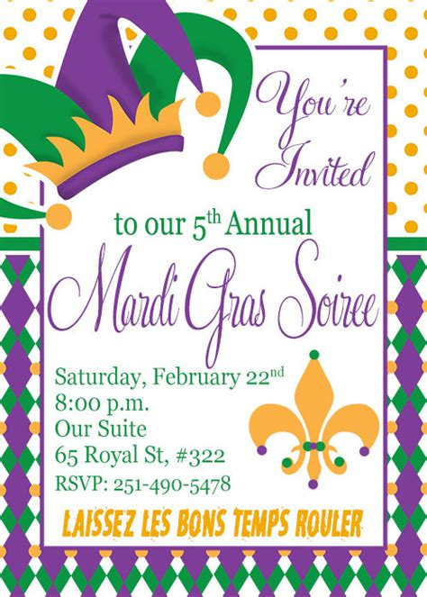 mardi gras invitation diy printable invitation mardi gras