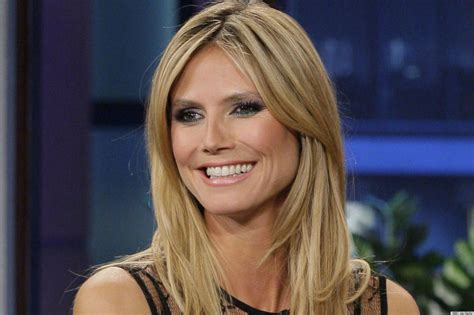 heidi klum pictures videos breaking news huffington post heidi klum s sheer dress on the tonight show has us