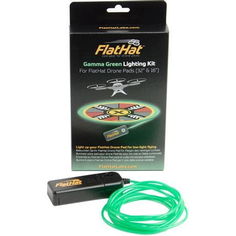 flathat lighting kit for 32 & 16 inch drone pad gamma green