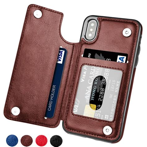 Wallet Card Iphone iphone x magnetic leather wallet card slot shockproof