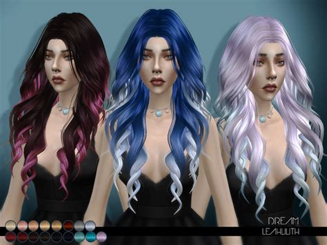sims 4 hair dream hair by leahlilith at tsr 187 sims 4 updates