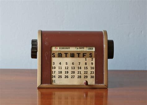 Perpetual Desk Calendar Vintage Perpetual Desk Calendar No 20