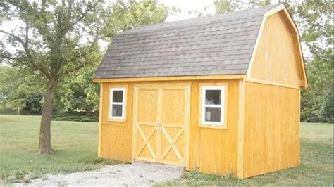a gambrel roof mini barn
