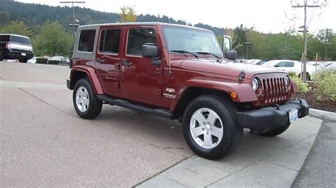 maroon jeep wrangler 4 door 2007 jeep wrangler maroon stock 13 3329a youtube