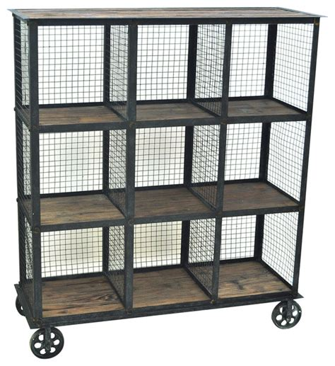 metal wood bookshelf wheeled metal bookcase industrial bookcases by