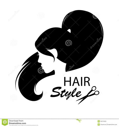 Hairstyle Tools Designs by Profile Silhouette Stock Vector