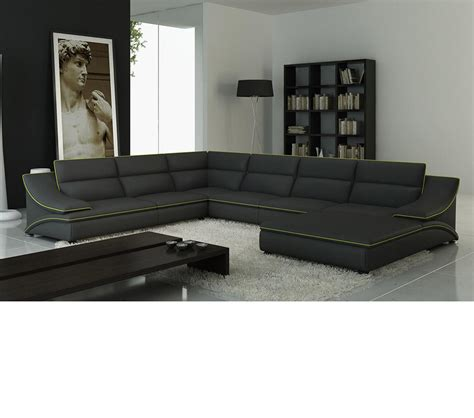 modern gray sectional dreamfurniture com 5076 modern grey sectional sofa