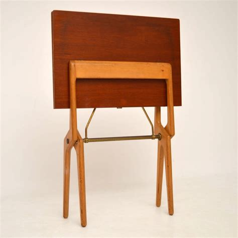 vintage folding card table retro rosewood folding card table vintage 1960 s