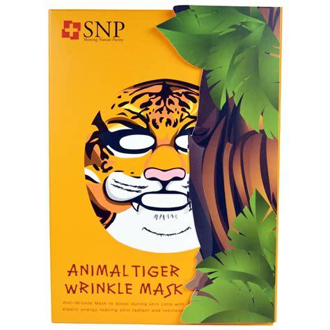 snp animal tiger wrinkle mask 10 masks x 25 ml each iherb
