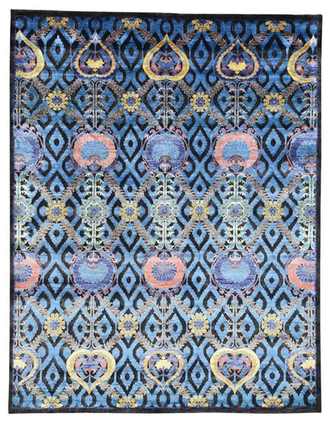 Arts And Crafts Area Rugs by Knotted Modern Arts And Crafts Wool And Bamboo Silk