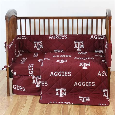 Texas Am Aggies Crib Bedding Set Interiordecorating Texans Crib Bedding