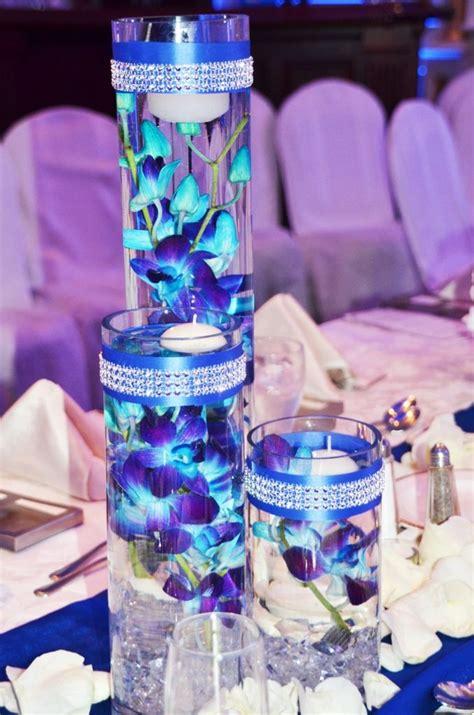 blue flower centerpiece best 25 blue orchid centerpieces ideas on