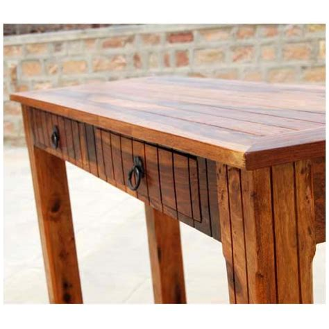 Console Sofa Table With Storage Drawers Solid Wood 2 Storage Drawer Sofa Entryway Console Table