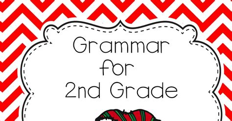 2nd grade grammar christmas smiling and shining in second grade freebie