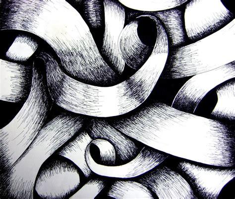 value pattern in art ribbon shading art zentangles pinterest pottery