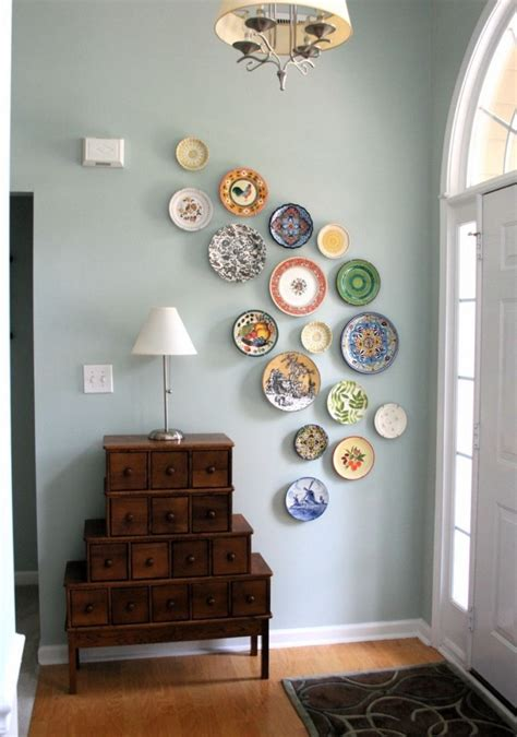 decorative plates to hang on wall easy diy wall ideas home design