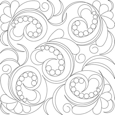 how to free motion quilt swirl designs weallsew 156 best images about 4 swirls curls longarm quilt