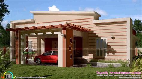 single floor house front elevation design india youtube