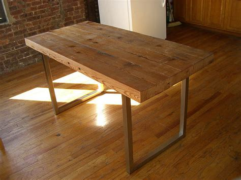 cheap diy table legs reclaimed wood table 5 steps with pictures