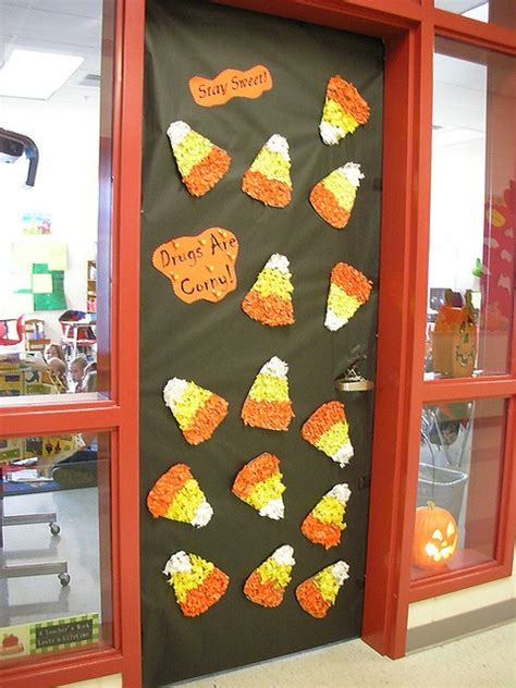 free decorating ideas drug free candy corn door decoration idea