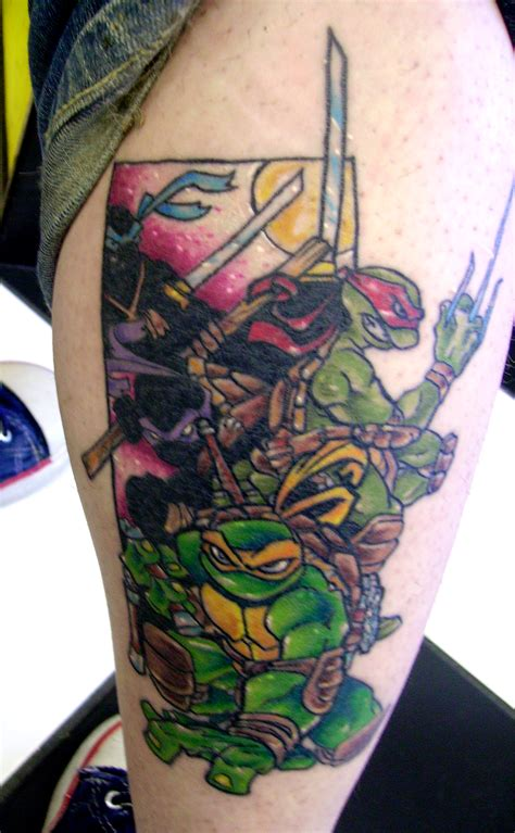 ninja turtles tattoo these are fans of the turtles and they