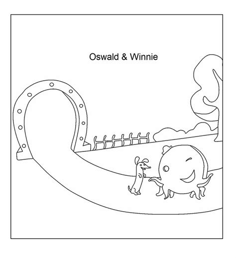 oswald winnie coloring printable page