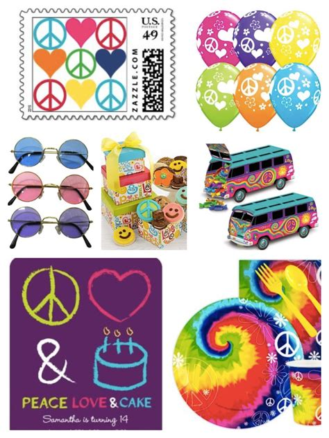 birthday themes for love peace and love party theme ideas supplies
