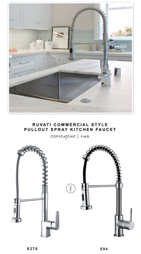 kitchen faucet styles ruvati commercial style pullout kitchen faucet copycatchic